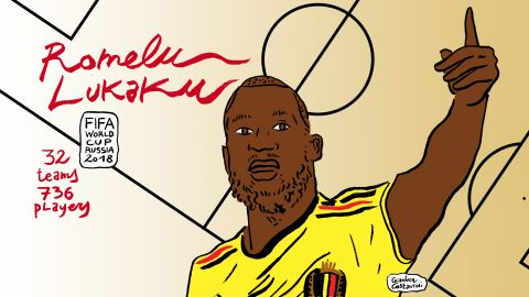 Romelu Lukaku is having an impressive World Cup. He scored two goals in Belgium's 3-0 win over Panama and grabbed another brace in the 5-2 over Tunisia.