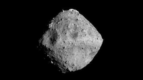 The distinctive diamond shape of the asteroid Ryugu initially took the Japanese team by surprise.
