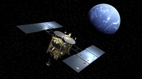 Japanese space agency JAXA landed the Hayabusa 2 probe on the surface of an asteroid.