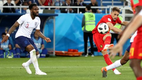 Belgium's Adnan Januzaj curls in a stunning goal against England on June 28. It was the only goal of the match.