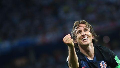 Modric scored a wonderful goal in Croatia's 3-0 win over Argentina.