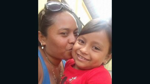 Angelica Gonzalez-Garcia and her daughter before they were separated at the US southern border.