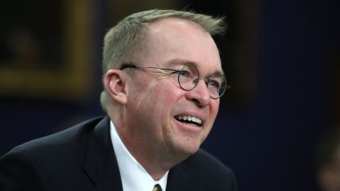 Office of Management and Budget Director Mick Mulvaney testifies during a House Appropriations Committee hearing on Capitol Hill, April 18, 2018 in Washington, DC. The committee is hearing testimony on President Donald Trump's FY2019 budget request for the Office of Management and Budget.  Mark Wilson/Getty Images