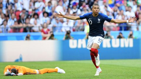 Kylian Mbappe was the star in France's victory over Argentina. The teenage sensation scored twice and drew a penalty that gave France its first goal.