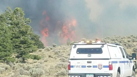 The Spring Fire in southern Colorado, seen here on June 27, 2018, has reached 41,000 acres in size, officials said.