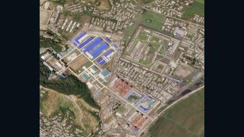 A satellite image on June 29 from Planet Labs Inc. shows a factory built by North Korea in Hamhung that could be used to build solid-fueled missiles.