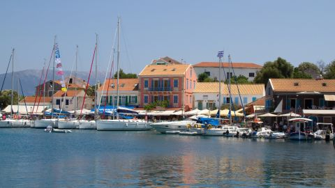 <strong>Greece, Fiskardo:  </strong>On Captain Corelli's Kefalonia lies the buzzy town of Fiskardo, a magnet for yachties cruising the gentle waters of the Ionian off Greece's west coast.