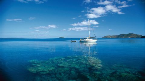 <strong>Australia, Whitsundays: </strong>The islands feature peaceful, remote anchorages such as Stonehaven (pictured), world-class resorts on Hamilton, Hayman and Daydream Islands and coral reefs full of marine life.