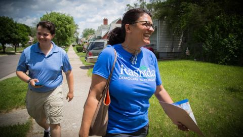 Tlaib faces several candidates from the Democratic Party establishment.