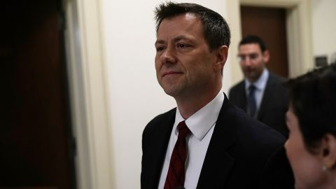 FBI Agent Peter Strzok arrives at a closed door interview before the House Judiciary Committee June 27, 2018 on Capitol Hill in Washington, DC. (Photo by Alex Wong/Getty Images)