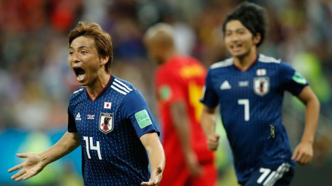 Takashi Inui, left, gave Japan a 2-0 lead early in the second half.