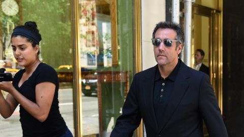 Michael Cohen, President Donald Trumps personal lawyer walks down Park Avenue in New York June 15, 2018 after leaving his hotel. - President Donald Trump's personal attorney Michael Cohen has indicated that he is willing to cooperate with federal investigators to alleviate the pressure on himself and his family. (Photo by TIMOTHY A. CLARY / AFP)        (Photo credit should read TIMOTHY A. CLARY/AFP/Getty Images)