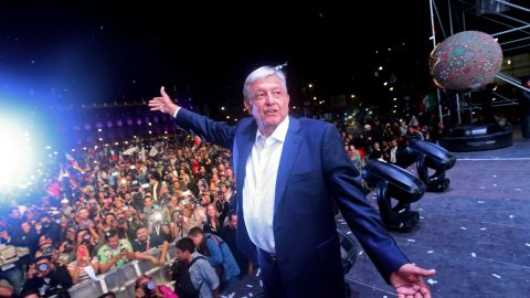 Newly elected Mexico's President Andres Manuel Lopez Obrado after winning general elections, in Mexico City, on July 1, 2018.