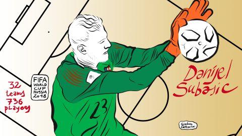 Croatian goalkeeper Danijel Subasic was his team's hero, saving penalties in the shootout from Simon Kjaer, Lasse Schone and Nicolai Jorgensen to inflict a heartbreaking last-16 defeat on Denmark.