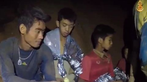 The team was found alive by British divers. The search brought rescue teams from all over the world.