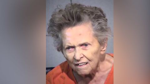 Anna Mae Blessing, a 92-year-old woman charged with first degree murder for the killing of her son in Maricopa County, Arizona.
