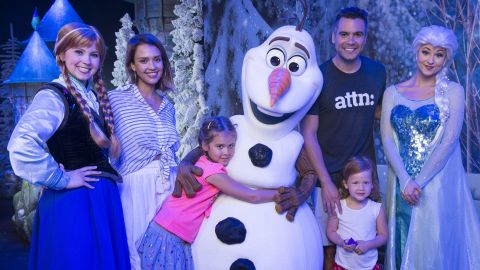 She is married to film producer Cash Warren, with whom she has three children: Honor, Haven and Hayes. Honor and Haven are pictured in this photo, when the family visited Walt Disney World Resort in Florida in 2015. She was inspired to start The Honest Company while pregnant with Honor.