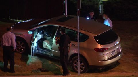 Images from the scene of a car jacking in Dallas, Texas.