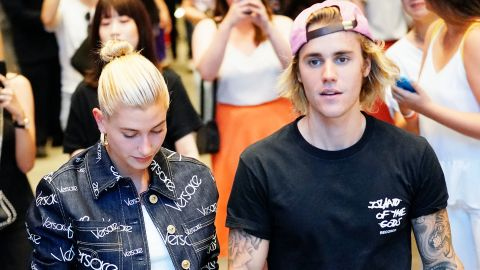 NEW YORK, NY - JULY 05:  Justin Bieber and Hailey Baldwin out and about in Dumbo on July 5, 2018.  (Photo by Gotham/GC Images)