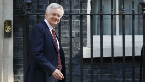 David Davis was unable to back May's Chequers plan.