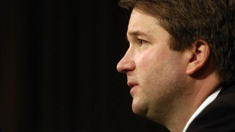Kavanaugh testifies during his confirmation hearing in 2006.