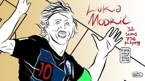 Midfielder Luka Modric has played a key role in Croatia advancing to the semifinals. The Real Madrid star scored a brilliant goal against Brazil in the group stage and has been a consistently creative force for Croatia.