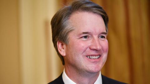 Supreme Court associate justice nominee Brett Kavanaugh attends a meeting with US Senate Majority Leader Mitch McConnell at McConnell's office in the US Capitol in Washington, DC on July 10, 2018. (Photo by MANDEL NGAN / AFP)        (Photo credit should read MANDEL NGAN/AFP/Getty Images)