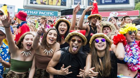 The Hong Kong sevens has established a reputation for its vibrant fan atmosphere.