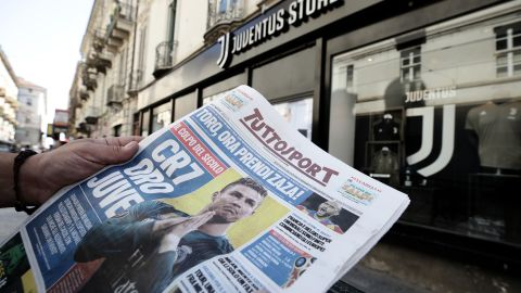 If Ronaldo's arrival was front and back page news it also had quite the impact on social media ...
