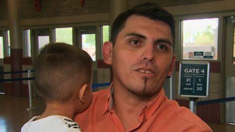 :20 - :30  Pablo Ortiz    :37 - :40  Roger   (gave first name only)    40 - 49;   KFOX    1:04 - 1:13  Josue Rodriguez    1:32 - 1:42  Secretary Alex Azar  United States Secretary of Health and Human Services    01:43 - 01:47;   WOOD TV    01:47 - 01:57;  NYT    01:57 - 02:04;   U.S. Border Patrol