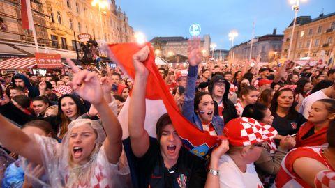 Croatia's supporters in Zagreb.
