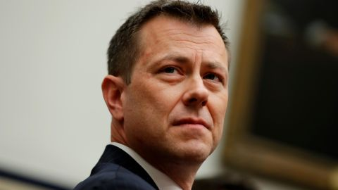 """FBI Deputy Assistant Director Peter Strzok is seated to testify before the the House Committees on the Judiciary and Oversight and Government Reform during a hearing on """"Oversight of FBI and DOJ Actions Surrounding the 2016 Election,"""" on Capitol Hill, Thursday, July 12, 2018, in Washington. (AP/Evan Vucci)"""