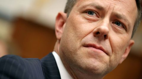 WASHINGTON, DC - JULY 12:  Deputy Assistant FBI Director Peter Strzok (C) waits to testify before a joint committee hearing of the House Judiciary and Oversight and Government Reform committees in the Rayburn House Office Building on Capitol Hill July 12, 2018 in Washington, DC. While involved in the probe into Hillary Clinton's use of a private email server in 2016, Strzok exchanged text messages with FBI attorney Lisa Page that were critical of Trump. After learning about the messages, Mueller removed Strzok from his investigation into whether the Trump campaign colluded with Russia to win the 2016 presidential election.  (Photo by Chip Somodevilla/Getty Images)
