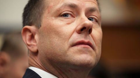 WASHINGTON, DC - JULY 12:  Deputy Assistant FBI Director Peter Strzok prepares to testify before a joint hearing of the House Judiciary and Oversight and Government Reform committees in the Rayburn House Office Building on Capitol Hill July 12, 2018 in Washington, DC. While involved in the probe into Hillary Clinton's use of a private email server in 2016, Strzok exchanged text messages with FBI attorney Lisa Page that were critical of Trump. After learning about the messages, Mueller removed Strzok from his investigation into whether the Trump campaign colluded with Russia to win the 2016 presidential election.  (Photo by Chip Somodevilla/Getty Images)