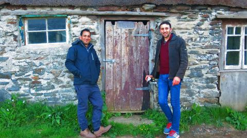 Majhor and Adel in Cornwall, England.