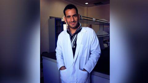 Majhor studying biology at Sinjar University in 2013.