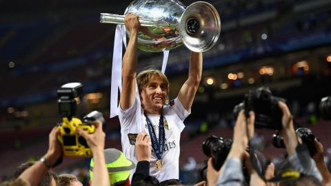 Modric has won the Champions League with Real Madrid four times in five years.