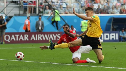 Thomas Meunier opened the scoring for Belgium in the fourth minute.