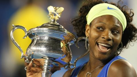 Ten years of grand slam success and a 10th major for Serena as she beats Dinara Safina in straight sets at the Australian Open final in 2009.
