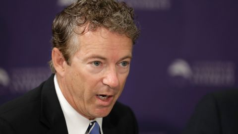 Sen. Rand Paul (R-KY) participates in a discussion about legislation to halt the sale of some weapons to Saudi Arabia at the Center for the National Interest September 19, 2016 in Washington, DC.