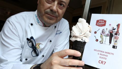 Ronaldo's move to Turin was also good news  for some of the city's ice-cream sellers ... Miretti's ice-cream shop has been selling a CR7 gelato.