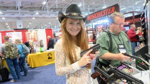 Maria Butina at the NRA Annual Meeting in Nashville, Tennessee, April 2015.