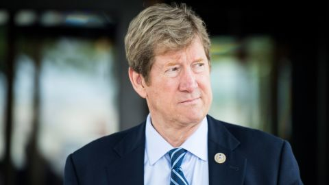 UNITED STATES - JUNE 13: Rep. Jason Lewis, R-Minn., leaves the House Republican Conference meeting at the Capitol Hill Club in Washington on Wednesday morning, June 13, 2018. (Photo By Bill Clark/CQ Roll Call)