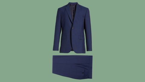 "<strong>Ted Baker Jay Trim Fit Suit ($529.90, originally $795; </strong><a href=""https://click.linksynergy.com/deeplink?id=Fr/49/7rhGg&mid=1237&u1=0720anniversarysale&murl=https%3A%2F%2Fshop.nordstrom.com%2Fs%2Fted-baker-london-jay-trim-fit-suit%2F4235353%3Forigin%3Dkeywordsearch-personalizedsort%26color%3Dblue"" target=""_blank"" target=""_blank""><strong>nordstrom.com</strong></a><strong>)</strong>"