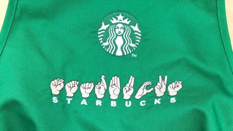 Starbucks sign language apron