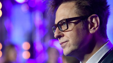 """Director James Gunn attends the European launch event of Marvel Studios' """"Guardians of the Galaxy Vol. 2."""" at the Eventim Apollo on April 24, 2017 in London, England.  (Photo by Ian Gavan/Getty Images for Disney)"""