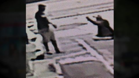 A still photo from a surveillance camera showing what police describe as Michael Drejka shooting Markies McGlockton on July 19, 2018.