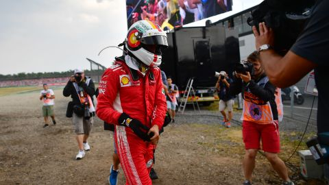 Vettel was audibly emotional after crashing out of his home Grand Prix