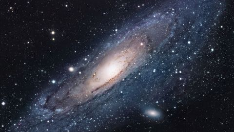 The Andromeda galaxy, the largest galactic neighbor to our own Milky Way, contains hundreds of billions of stars.