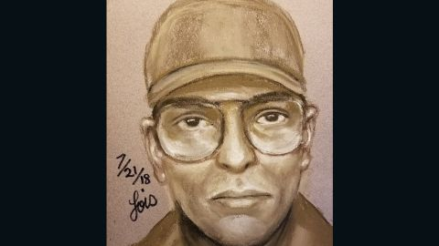 A sketch of a suspect in the death of Dr. Mark Hausknecht
